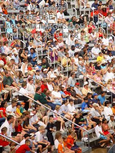 Stock Photo Clip Art of Fans, Crowd, Audience in Stands
