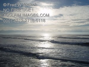 Stock Photo Clip Art of Waves On The Ocean