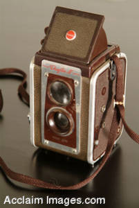 Stock Photo of a Vintage Camera
