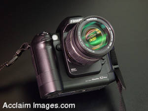 Stock Picture of a Digital Camera