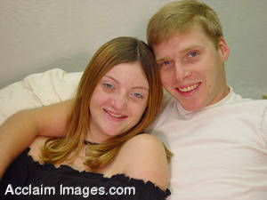 Stock Photo of a Happy Young Couple