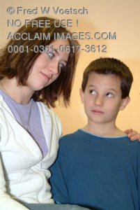 Stock Photo Clip Art of a Brother and Sister