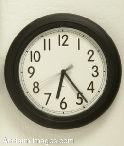 Stock Photography of a Wall Clock