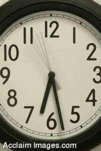 Free Stock Clip Art Photo of a Black and White Wall Clock