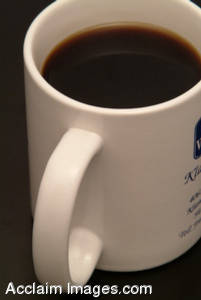 Stock Photography of a Coffee Cup, Full of Coffee