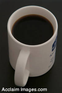 Stock Photography of Coffee in a White Mug