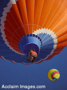 Stock Photography of Two Hot Air Balloons