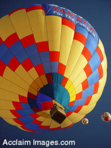 Picture of a Colorful Hot Air Balloon
