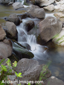 Free Stock Clip Art Photo of a Stream in Iao Valley, Hawaii