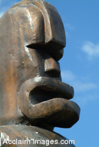 Clipart Photo of a Tiki Statue