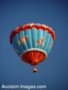 Stock Image of a Carousel Shaped Hot Air Balloon