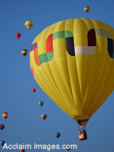 Stock Image of Hot Air Balloons