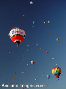 Stock Photography of Hot Air Balloons