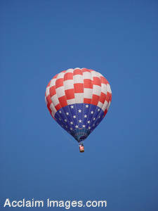 Stock Image of an Patriotic American Hot Air Balloon