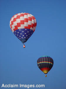 Stock Photo of an Patriotic American Hot Air Balloon