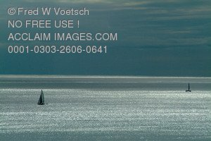 Stock Photo of Sailboats On The Ocean