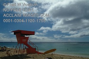 Stock Photo of a Lifeguard Tower