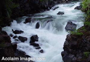 Stock Photo of the Rogue River Gorge in Oregon