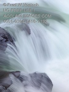 Stock Photo of  Flowing Water in The Rogue River Gorge