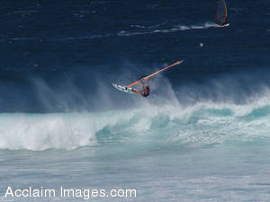 Picture of a Windsurfer in Hawaii