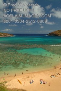Stock Photo of Hanauma Bay