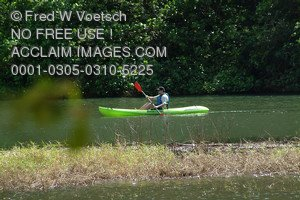 Stock Photo of a Kayaker