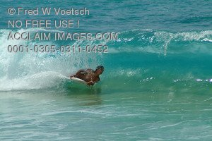 Stock Photo of a Boogie Boarder