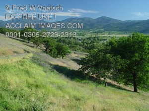 Stock Photo of The Rogue Valley in Talent, Oregon