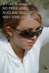 Stock Photo of a  Girl With Sunglasses