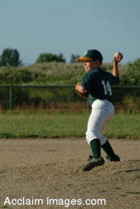 Stock Photography of a Baseball Player