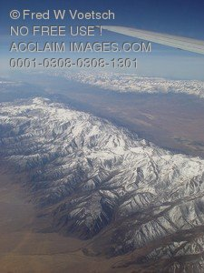 Stock Photo of a View From an Airplane