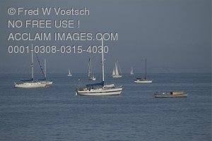 Stock Photo Boats on The Ocean