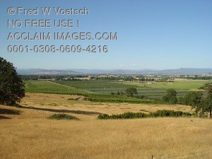 Stock Photo of Medford, Oregon in the Rogue Valley