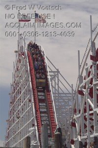 Stock Photo of the Giant Dipper Roller Coaster