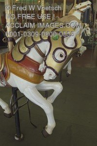 Stock Photo of a Carousel Horse