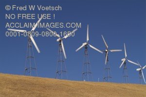 Stock Photo of Wind Power Generation