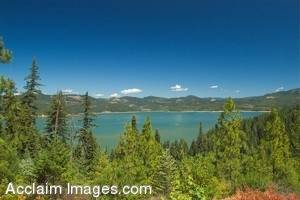 Stock Photo of Lost Creek Lake in Southern Oregon