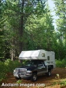 Stock Image of a Camper Truck
