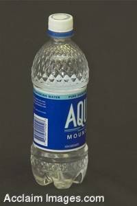 Stock Photo of a Bottle of Water