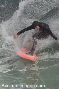Stock Picture of a Surfer in a Wet Suit