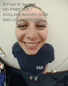 Stock Photo of a Girl Smiling