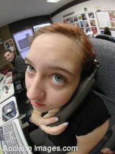 Picture of Funny Faces: Girl on The Phone