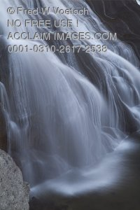 Stock Photo of Gibbon Falls in Yellowstone National Park