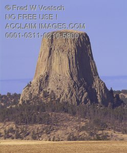 Stock Photo of Devils Tower