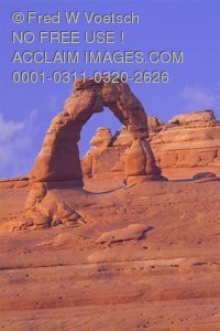 Stock Photo of Delicate Arch in Arches National Park