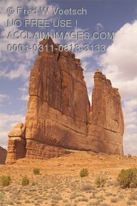 Stock Photo of The Organ, Arches National Park