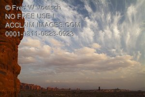 Stock Photo of Sunset at Garden of Eden, Arches National Park