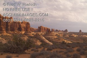 Stock Photo of Garden of Eden at Arches National Park