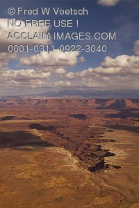 Stock Photo of Buck Canyon View, Canyonlands National Park