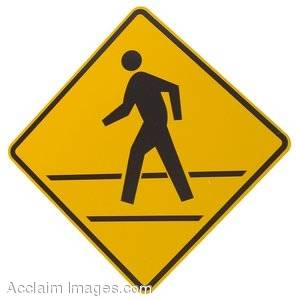 Stock Photography of a Pedestrian Road Sign